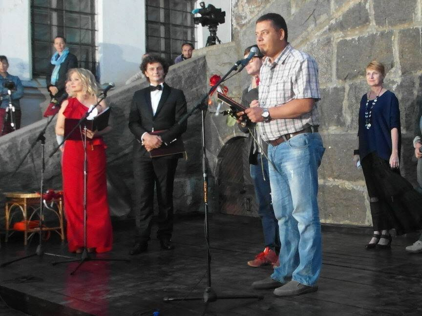 Церемония награждения. Гран-При за фильм «Сын» на кинофестивале «Окно в Европу», г. Выборг